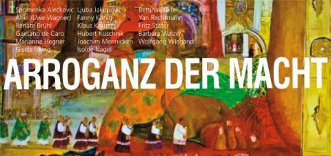 Ausstellung, Macht Arroganz, Flyer