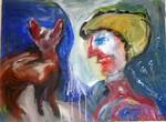 Bambi, Tier Mensch, Bild Acryl