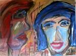 Glücklos, Porträt, Ölgemälde