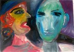 Marianne Hegner, Bild Frau, Gemälde