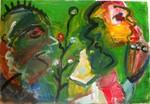 Auf der Flucht, Hegner Kunst, Atelier Offenbach